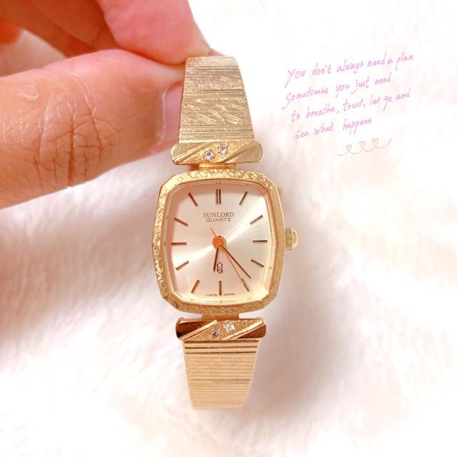 【SUNLORD】vintage ゴールド 腕時計 電池交換済み 美品の通販 by vintageショップ|ラクマ
