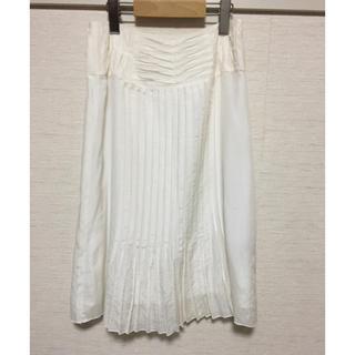 デプレ(DES PRES)のオフホワイトスカート(ひざ丈スカート)