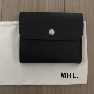 マーガレットハウエル(MARGARET HOWELL)のMHL マーガレットハウエル  牛革 財布 黒(財布)