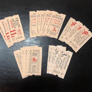 布シール  ❀.*・゜チケット型  (ピンクベージュ)  5種類  18枚セット(カード/レター/ラッピング)