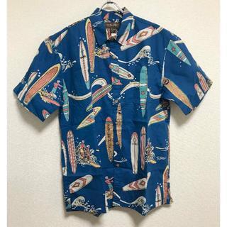 コストコ(コストコ)の新品 ★ COOKE STREET アロハシャツ L サーフボード ネイビー(シャツ)