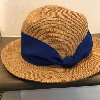 バーニーズニューヨーク(BARNEYS NEW YORK)のAthena New Yorkグリッター縁の麦わら帽子(麦わら帽子/ストローハット)