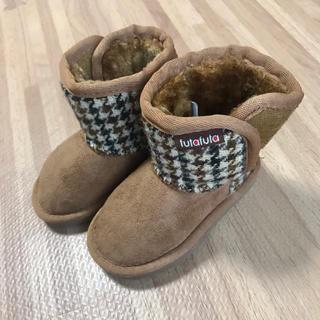 フタフタ(futafuta)の美品 ベビー ムートンブーツ 13㎝ キャメル ブラウン(ブーツ)