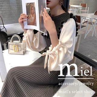 スナイデル(snidel)のballoon blouse knit one-piece/バルーン袖(ロングワンピース/マキシワンピース)