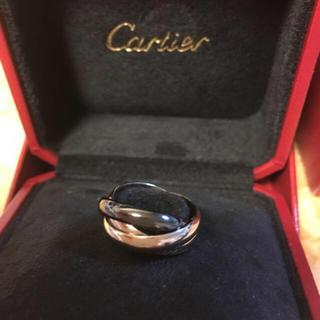 カルティエ(Cartier)の正規品 カルティエ トリニティ 3連 リング 指輪 750WG セラミック#49(リング(指輪))