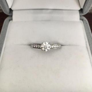 カルティエ(Cartier)のカルティエ ダイヤモンド リング Pt950 0.39ct G VVS-1 EX(リング(指輪))