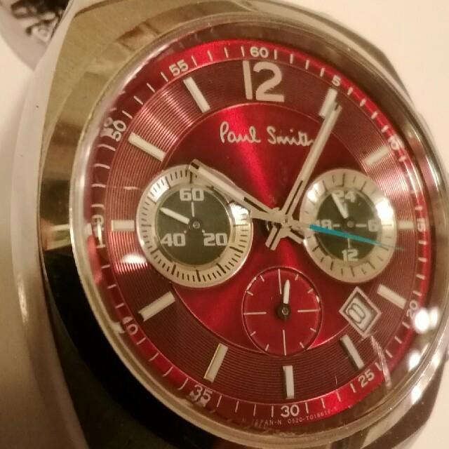 Paul Smith - ポール▪スミス腕時計 クロノグラフ メタルバンド ワインレッド 電池新品交換済の通販 by レスキュー's shop  (必ずプロフ見て下さい)|ポールスミスならラクマ