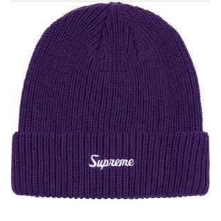 シュプリーム(Supreme)のSupreme Loose Gauge Beanie 19AW purple(ニット帽/ビーニー)