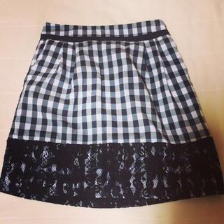 マーキュリーデュオ(MERCURYDUO)のMercury♡チェックレーススカート(ミニスカート)