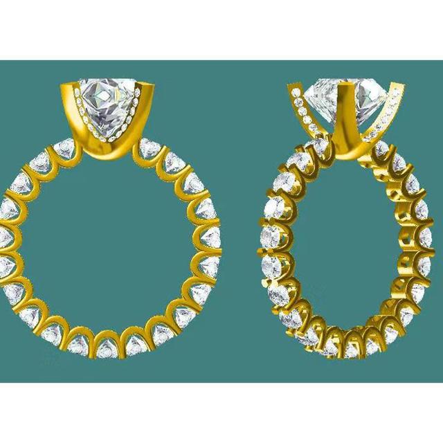 18k 🉐🉐モアサナイト3ct リング レディースのアクセサリー(リング(指輪))の商品写真