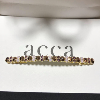 アッカ(acca)のアッカ acca ピンク色 ベリーバレッタ(バレッタ/ヘアクリップ)