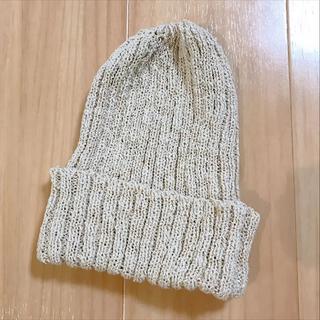 トゥモローランド(TOMORROWLAND)のtanayumi様専用 新品 夏用 ニット帽 白色 クリーム色 アイボリー色(ニット帽/ビーニー)
