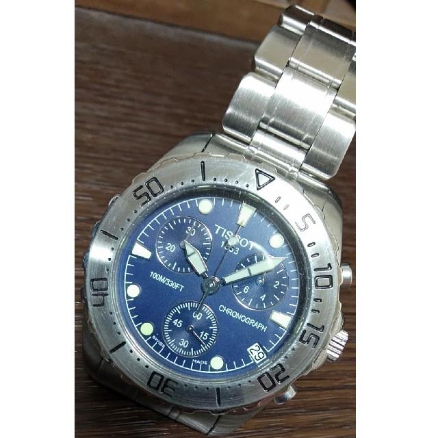 TISSOT - ティソ クロノグラフ 腕時計の通販 by hiro|ティソならラクマ