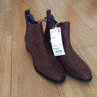 ユニクロ(UNIQLO)の新品 ユニクロ サイドゴア ショートブーツ 靴 シューズ ブーツ(ブーツ)