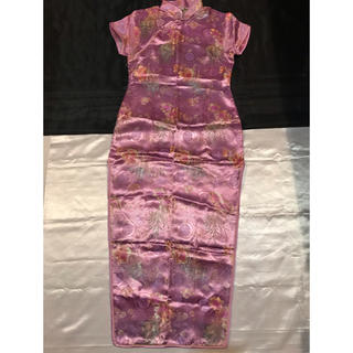 ◆美品◆撮影会、コスプレ、イベント◆美品◆ピンクパープル+刺繍ロングチャイナ◆(ロングドレス)