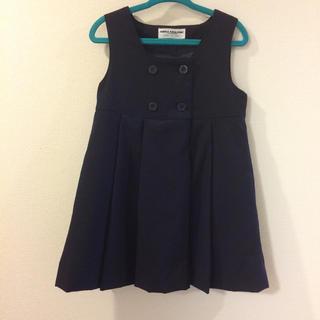 ミキハウス(mikihouse)のミキハウス ジャンパースカート 100cm 紺(ドレス/フォーマル)