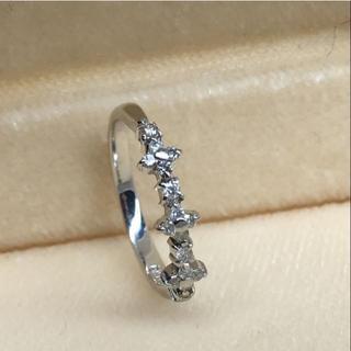 K14WG ホワイトゴールド ダイヤモンド 0.14ct デザインリング指輪(リング(指輪))