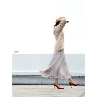 クレット(clette)の【新品タグ付き】 プリーツスカート 3L(ロングスカート)