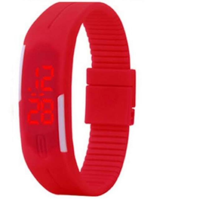 オメガ 時計 一番安い | LED腕時計 スポーツウォッチ レッド 赤 軽量の通販 by ゆうショップ|ラクマ