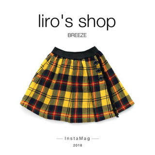 BREEZE - BREEZE♡ ラップ風チェックスカート