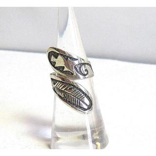 新品」レア・1990年代」ナバホ族/ギブスンジーン製作・アジャスタブル・送料込(リング(指輪))