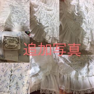 ガニーサックス(GUNNE SAX)の●追加写真●gunne sax 70s Vintage 裾二重 豪華なワンピース(ひざ丈ワンピース)