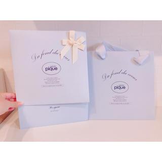 ジェラートピケ(gelato pique)のジェラートピケ ギフトボックス&ショップ袋(ラッピング/包装)