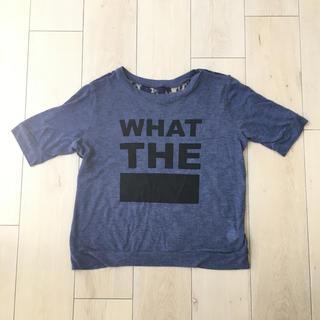 ジーユー(GU)のロゴ  レースtシャツ  GU(シャツ/ブラウス(半袖/袖なし))