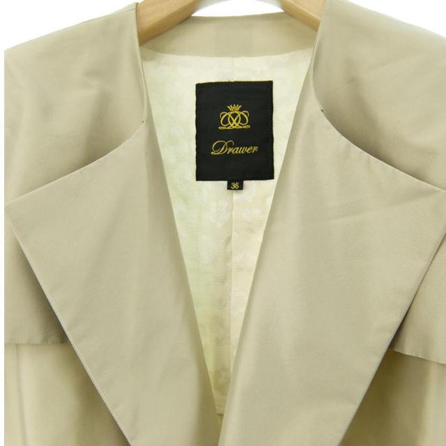 Drawer(ドゥロワー)のDrawer ドゥロワー シルク混 2シーズン コート トレンチコート パンツ レディースのジャケット/アウター(トレンチコート)の商品写真