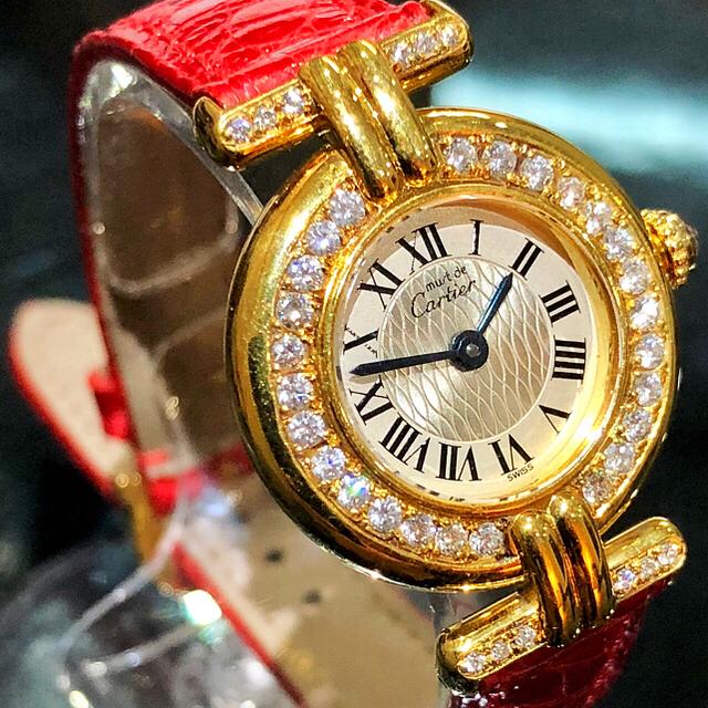 時計 偽物 購入 、 Cartier - カルティエ ヴェルメイユ 150周年限定モデル クォーツ ダイヤモンドの通販 by 布袋堂's shop|カルティエならラクマ