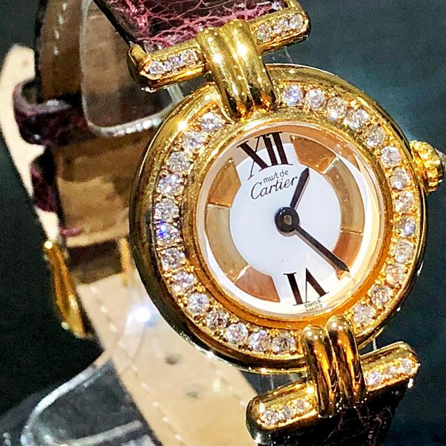 chanel 時計 カメリア / Cartier - カルティエ ヴェルメイユ 590002 マストコリゼ ダイヤモンドの通販 by 布袋堂's shop|カルティエならラクマ