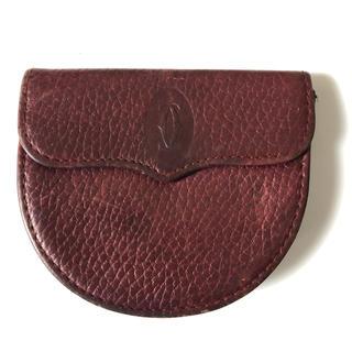 カルティエ(Cartier)のCartier カルティエ コインケース レザー マストライン ボルドー 財布(コインケース/小銭入れ)