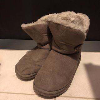 ムートンブーツ 23.5cm ブラウン(ブーツ)