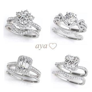 新作  SONAダイヤモンド  最高級人工ダイヤモンド  豪華セットリング (リング(指輪))