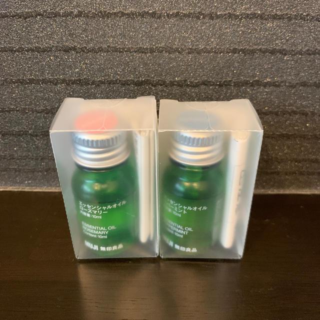 MUJI (無印良品)(ムジルシリョウヒン)の無印エッセンシャルオイル 2本セット コスメ/美容のリラクゼーション(アロマオイル)の商品写真