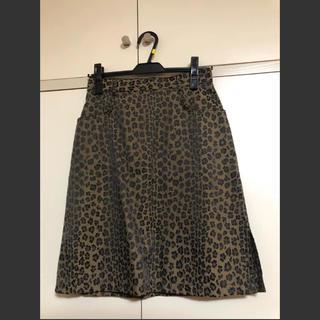 フェンディ(FENDI)のFENDI レオパード FF スカート(ひざ丈スカート)