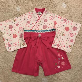 ディズニー(Disney)の袴ロンパース 女の子 80 ミニーちゃん ディズニー(和服/着物)