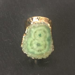 マライカ(MALAIKA)の天然石 リング 指輪 モスグリーン(リング(指輪))