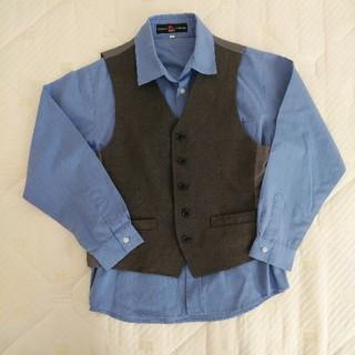 ヒロミチナカノ(HIROMICHI NAKANO)の男の子 フォーマル シャツ 130(ドレス/フォーマル)