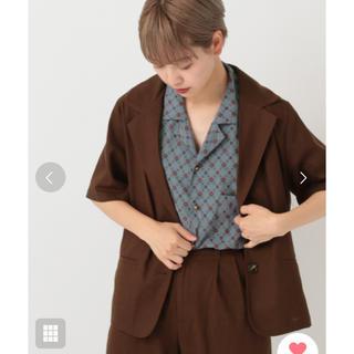 メルロー(merlot)のクティール 半袖 ジャケット 🐻(シャツ/ブラウス(半袖/袖なし))