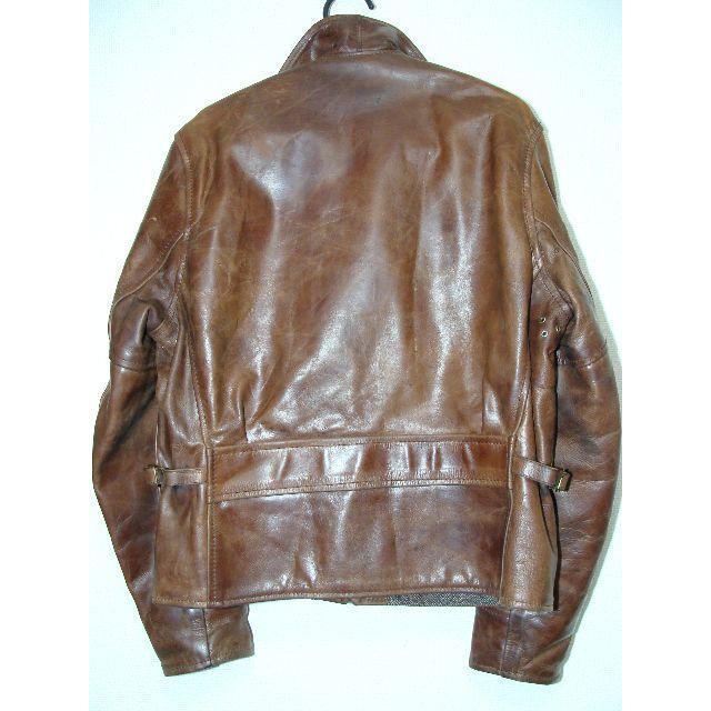 VANSON(バンソン)のAEROLEATHERエアロレザーハーフベルテッド牛革皮カウレザーライダースJK メンズのジャケット/アウター(レザージャケット)の商品写真