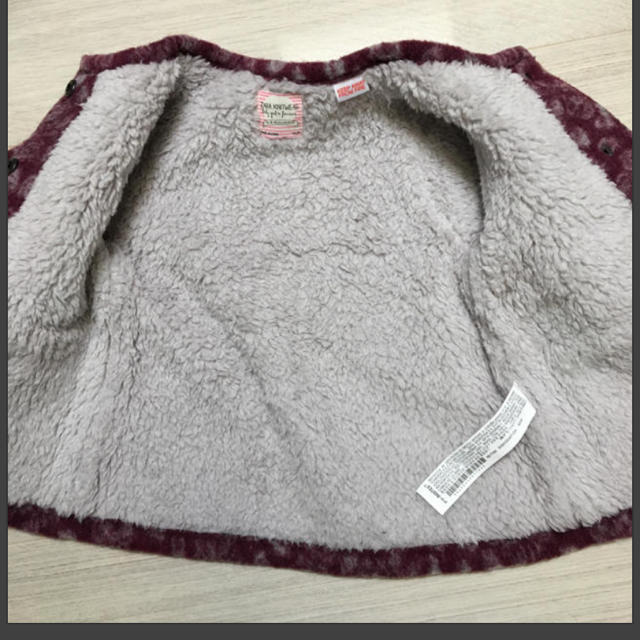ZARA KIDS(ザラキッズ)の新品 レオパード ボアジャケット キッズ/ベビー/マタニティのキッズ服 女の子用(90cm~)(ジャケット/上着)の商品写真