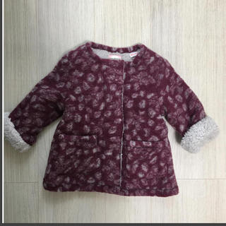 ザラキッズ(ZARA KIDS)の新品 レオパード ボアジャケット(ジャケット/上着)