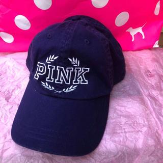 ヴィクトリアズシークレット(Victoria's Secret)のヴィクシー VS Pink ベースボールキャップ 帽子 ネイビーブルー(キャップ)