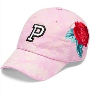 ヴィクトリアズシークレット(Victoria's Secret)のヴィクシー VS Pink ベースボールキャップ 帽子 タイダイ 花柄(キャップ)
