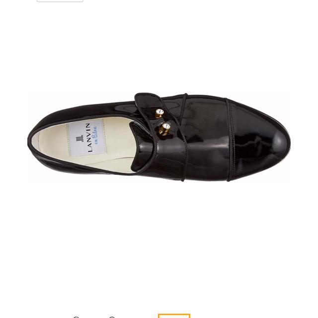 LANVIN en Bleu(ランバンオンブルー)の【最終SALE】ランバンオンブルー ビジュー調モチーフストレートチップシューズ レディースの靴/シューズ(ローファー/革靴)の商品写真
