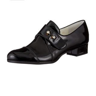 ランバンオンブルー(LANVIN en Bleu)の【最終SALE】ランバンオンブルー ビジュー調モチーフストレートチップシューズ(ローファー/革靴)