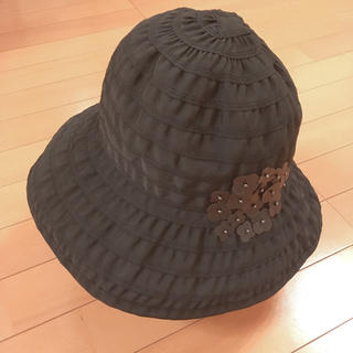 アンテプリマ(ANTEPRIMA)の美品♡アンテプリマANTEPRIMA♡帽子ブラック♡フラワー(ハット)