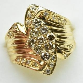 K18 ゴールド 合計 0.76ct ダイヤモンドリング 11号 指輪  (リング(指輪))