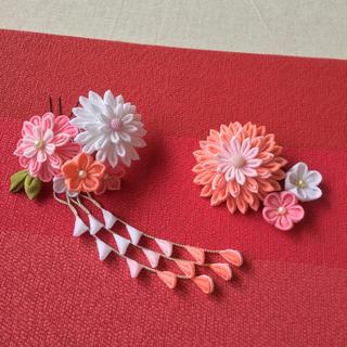 つまみ細工 髪飾り ピンク /成人式 卒業式 結婚式 他(ヘアアクセサリー)